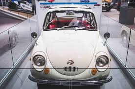 subaru 360 car five classics on the main floor of the 2017 new york auto show