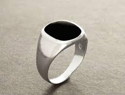 men ring ring black onyx ring silver 925 modern men ring