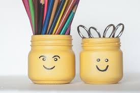 diy lego pencil pots jars crafts