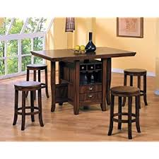 counter height kitchen island 5pc counter height kitchen island table stools set