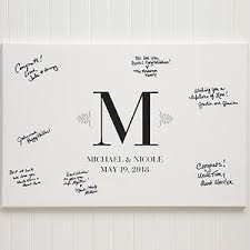 personalized wedding guestbook personalized wedding guestbook canvas 12x18 wedding gifts