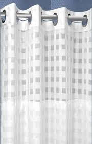 Hookless Vinyl Shower Curtain 1pc Solid Vinyl Bathroom Shower Curtain Liner With Metal Grommets