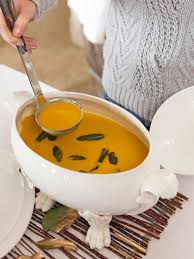 thanksgiving butternut squash soup curried butternut squash soup with fried sage leaves hgtv