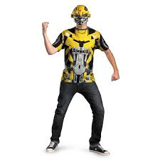 Transformer Halloween Costume Transformers Bumblebee Shirt Mask Size Mens