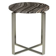 Marble Side Table Rosa Modern Marble Side Table Black Polished Silver
