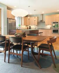 dinning mid century modern kitchen table dining table and chairs