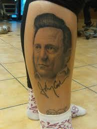 johnny cash portrait tattoo by johan887766 on deviantart