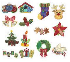 christmas applique patchwork christmas applique machine embroidery designs designs