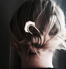 large hair gold hair stick crescent jewelry half angular arc handmade