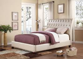 Tufted King Bed Frame Acme Furniture 22840 Pitney Tufted Padded Upholstery