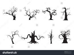 halloween scary trees vector stock vector 60835936 shutterstock
