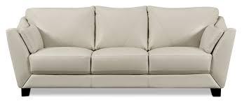 Carolina Leather Sofa by Laken Genuine Leather Sofa U2013 Smoke The Brick