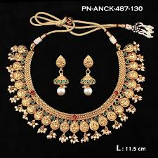 emerald pearl necklace images Temple emerald pearl designer with 22kt gold polish bridal jpg