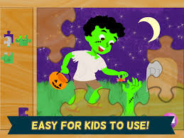 halloween kids puzzles 2 ghost zombie and witch games for