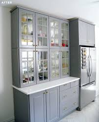 Hutch Kitchen Cabinets Ikea Glass Kitchen Cabinets Stacked Two Regular Height