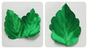 leaf ribbon how to make ribbon leaves i green leaves tutorial i diy kanzashi