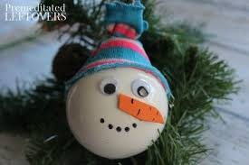snowman ornament craft for