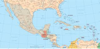 Central And South America Blank Map by Political Map Of Mexico Central America And The Caribbean You
