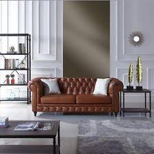 leather chesterfield sofa ebay