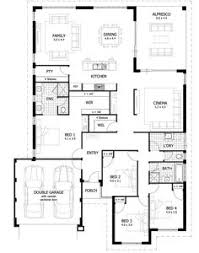 t shaped plan with four bedrooms house plan 1 pinterest