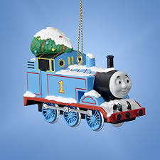 the tank engine with tree blue ornament