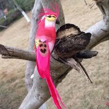 Birds Home Decor 12 4 2 5cm 2pcs Decorative Parrot Artificial Foam Feathers
