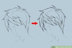 6 ways to draw anime hair wikihow