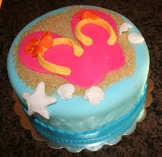 Home Decorated Cakes 69 Best Flip Flop Food Images On Pinterest Flip Flop Cakes Flip