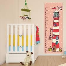 toise chambre bébé sticker toise enfant et bébé décoration chambre bord de mer