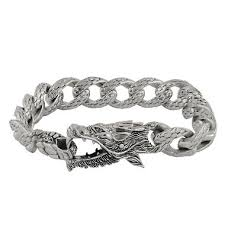 dragon bracelet silver images Robert manse dragon bracelet in sterling silver with black diamond