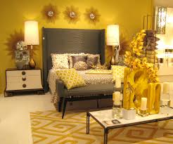 home decoration spring interior yellow bedroom design yellow