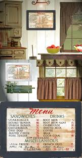 vintage style country primitive kitchen home decor 50 u0027s diner menu