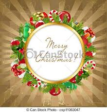eps vector of merry frame with vintage background