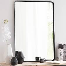 Badezimmerspiegel Mit Ablage Spiegel Weston Mit Schwarzem Metallrahmen H 110 Cm Bäder