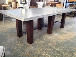 concrete top bar table concrete top dining table thick mecox gardens 3 quantiply co