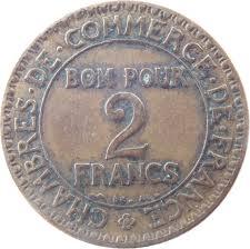 inscription chambre de commerce 2 francs chambres de commerce 1920 1927 km 877 coinsbook