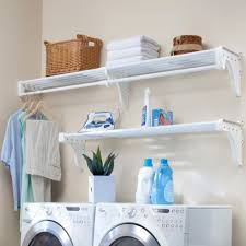 Ideas For Laundry Room Storage by Storage U0026 Organization Neutral Themed Laundry Room Shelving With