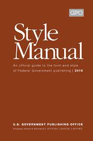 new gpo style manual 2016 government book talk