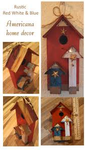 red white u0026 blue rustic americana table top home decor hanging