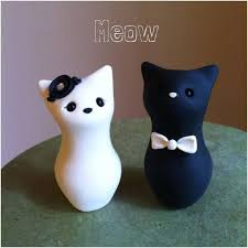 cat wedding cake toppers cat wedding cake toppers