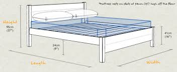 Full Size Bed Dimensions Bedroom Delightful Images Of In Collection Gallery Single Bed