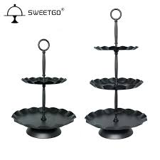 metal cake stand aliexpress buy sweetgo black 3 tier 2 tier metal cake