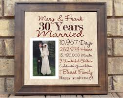 30th anniversary gifts for parents parent anniversary etsy