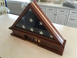 Triangle Flag Case Flag Display Case With Inset And Centered Shell Casings