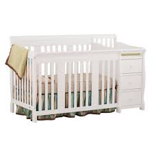 Convertible Crib Bed by Craft Portofino 4 In 1 Fixed Side Convertible Crib Changer