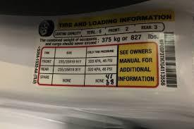 lexus sedan tire pressure the inadequate tire pressure sticker automobile magazine