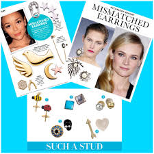 mismatched earrings or cut mismatched earrings