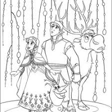 anna kristoff sven olaf coloring pages anna