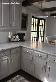 Gray Kitchens Pictures Darker Gray Cabinets With Marble Cabinet Color Winter U0027s Gate In