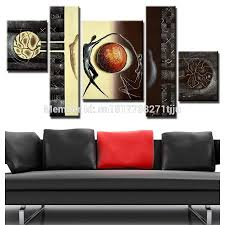 popular large canvas art cheap buy cheap large canvas art cheap hand painted canvas oil painting abstract canvas wall art 5pcs home decor picture sets large cheap